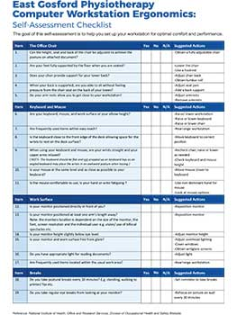 ergonomics checklist