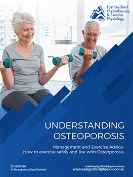 Osteoporosis ebook cover , Central Coast Physio