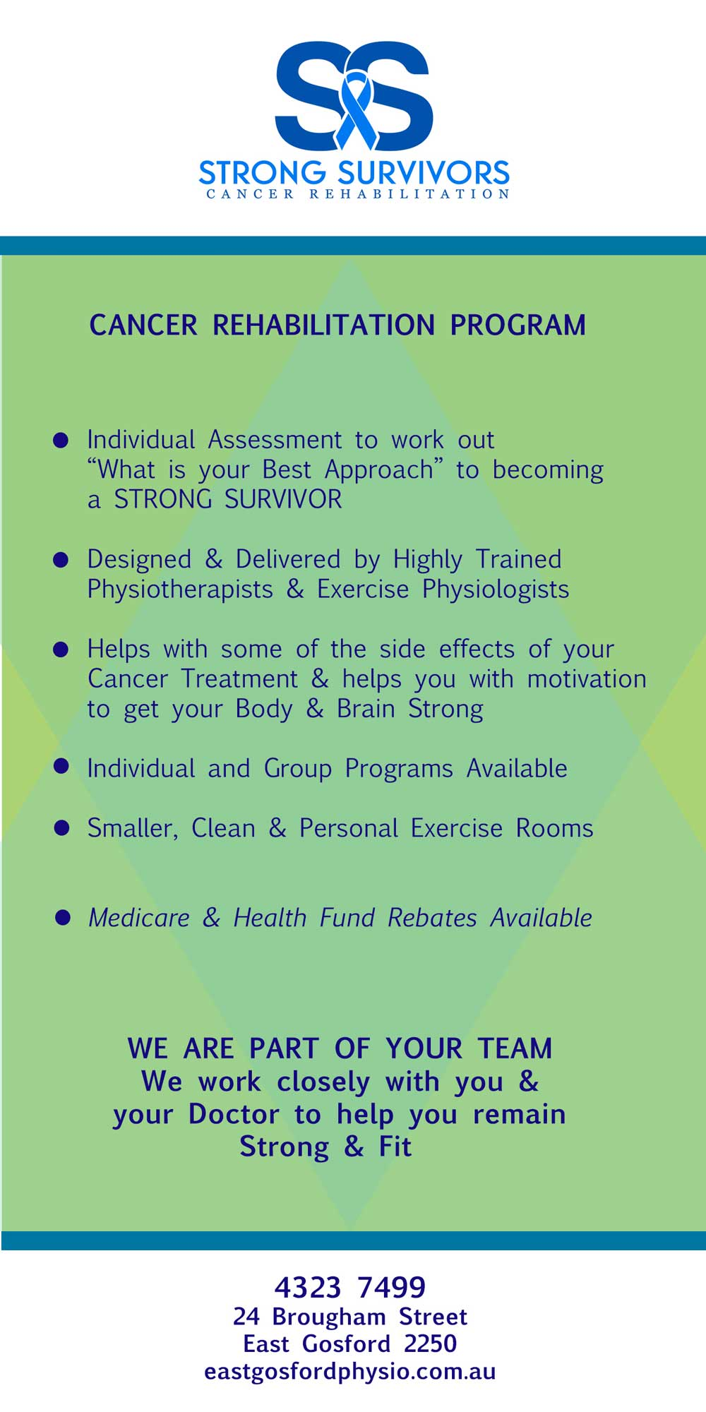 strong survivors flyer - East Gosford Physio