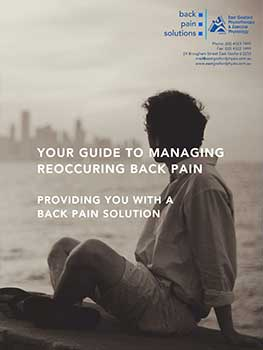 Back pain ebook from East Gosford Physio on NSW Central Coast
